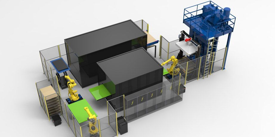 consolidation stamping thermoplastics production line pinette pei