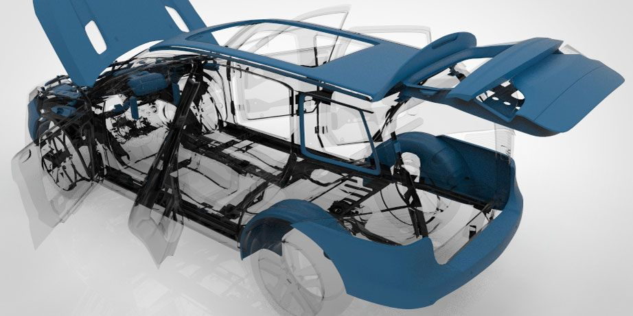 Automotive Composites Car Exterior Parts Production