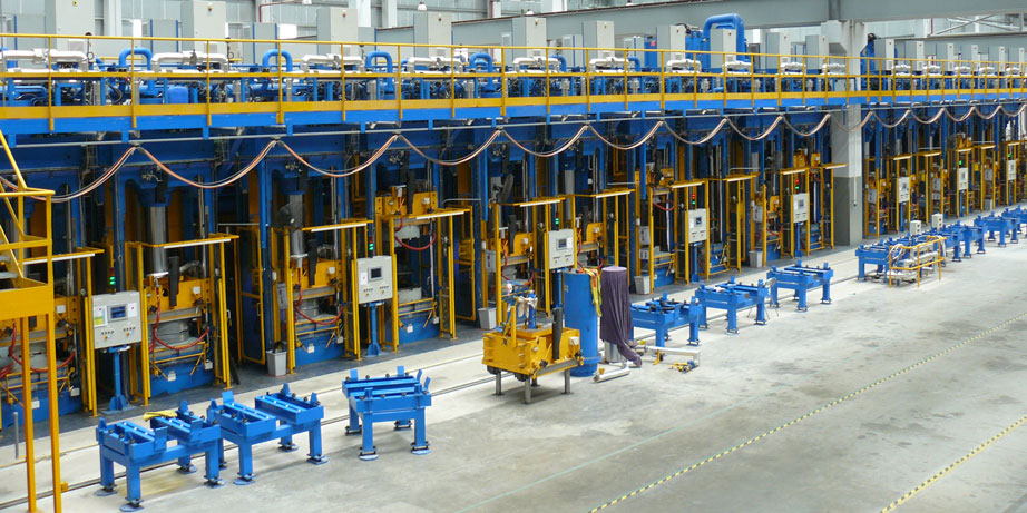 rubber molding press system