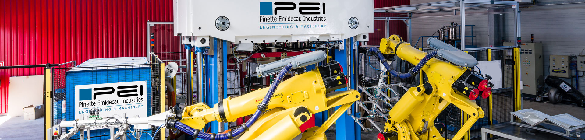 PINETTE P.E.I. is a supplier of hydraulic press and automated press systems from 10 to 100,000 kN dedicated to composites preforming and forming.
