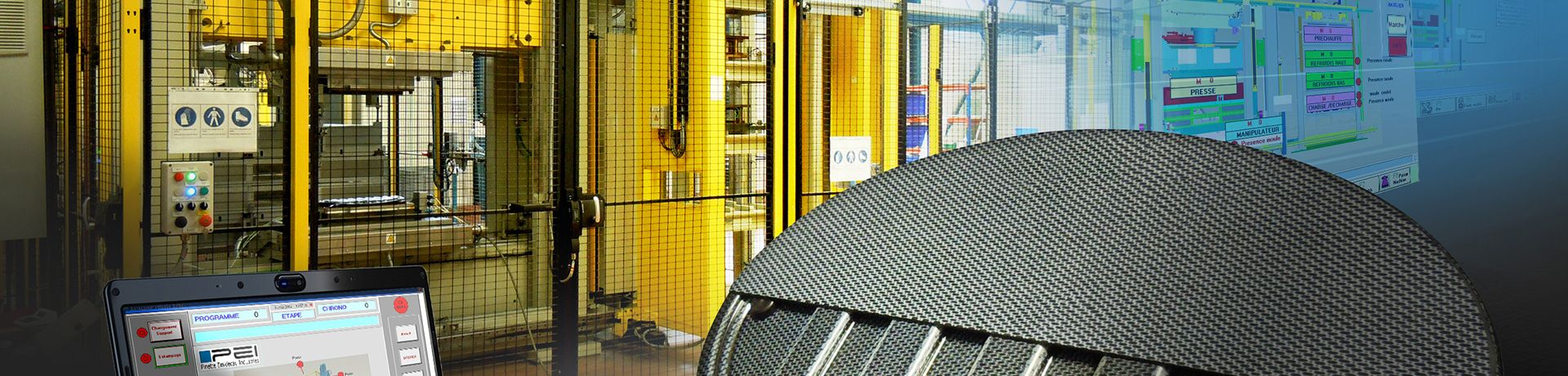 Pinette P.E.I. is a historical supplier of turnkey manufacturing systems dedicated to thermoplastics stamping including PPS, PEKK , PEEK and more.