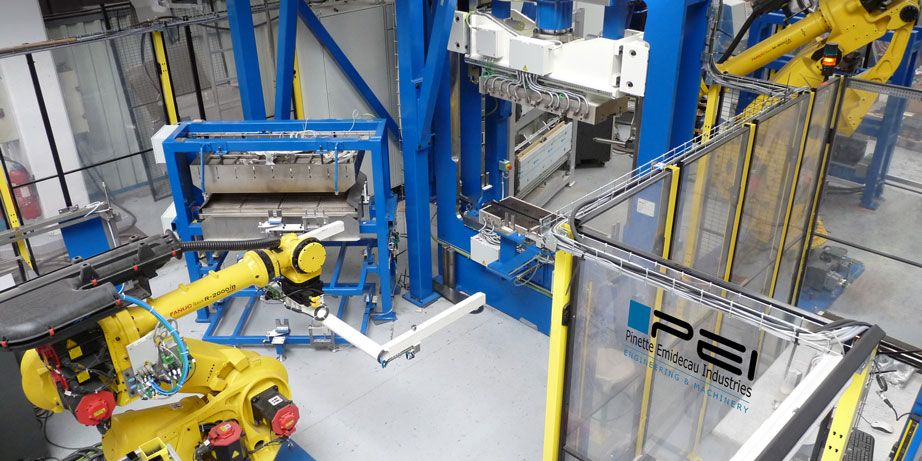 thermoplastic composites stamp forming line